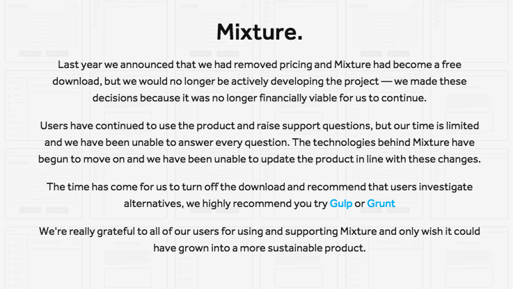 Final announcement from Mixture